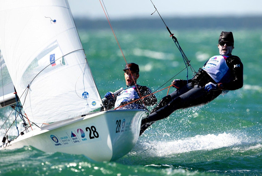 Nova Scotia sailors Jacob Saunders and Oliver Bone are trying to qualify for Tokyo 2020 in the 470 sailing competition but have hit a rough patch. The 470 world championships and the Olympic qualifying events have been postponed dur to the COVID-19 pandemic and their boat is stuck in Spain. CONTRIBUTED