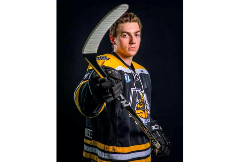 Sam Mattie, a forward with the Antigonish Jr. B Bulldogs, is enjoying the opportunity to play competitive hockey while receiving an education at St. Francis Xavier University.