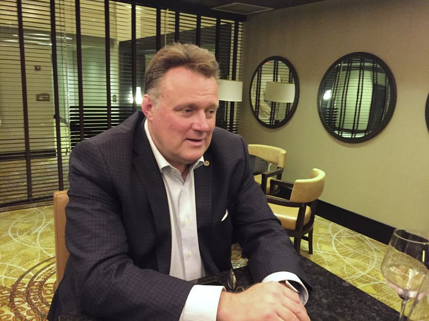 Mike Savage reflects on his re-election as mayor of Halifax Regional Municipality on Saturday, Oct. 17, at the Halifax Marriott Harbourfront hotel restaurant. - Francis Campbell