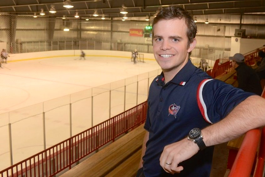 "Scott Harris is the scouting co-ordinator for the Columbus Blue Jackets. ""It's just like a hockey player,"" he said. ""You continuously have to prove yourself and show you want to get better."""