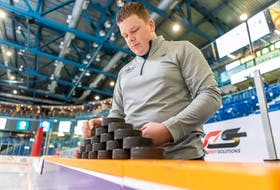 Tyler Jay is the full-time equipment manager of the Saint John Sea Dogs of the Quebec Major Junior Hockey League. Saint John Sea Dogs/Special to The Guardian