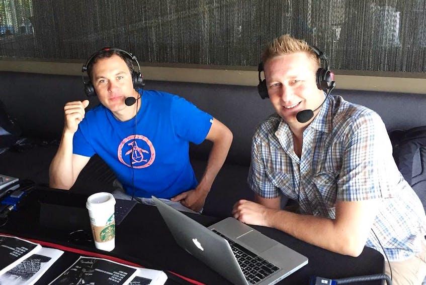 Matt Sekeres and Blake Price in their days at TSN 1040.