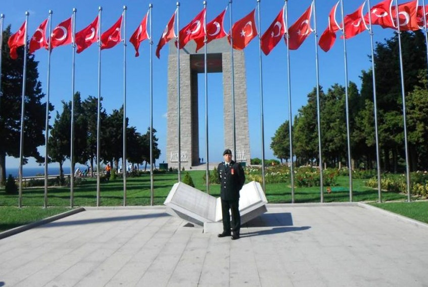 Lt. Col. Kevin Bond represented the Royal Newfoundland Regiment's Second Battalion at a ceremony in Turkey last year commemorating the 100th anniversary of the Battle of Gallipoli.