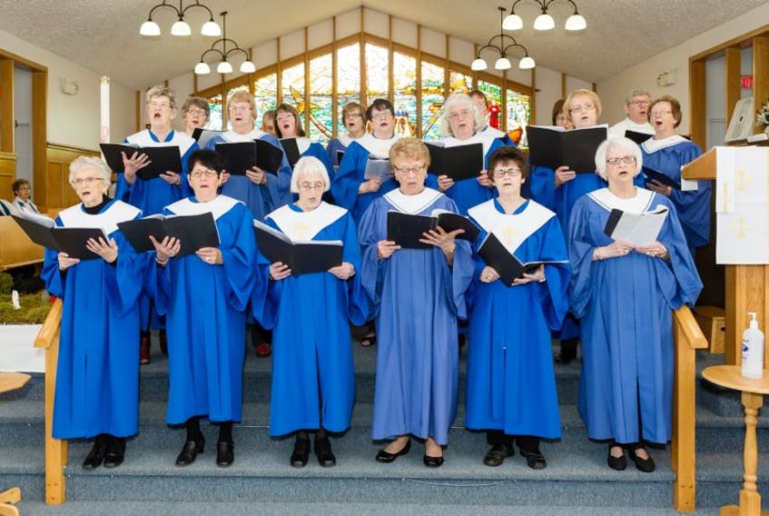 Combined choirs from Grand Bank, Fortune and Lamaline took part in the synod services in the Parishes of Fortune-Lamaline and Grand Bank last month.
