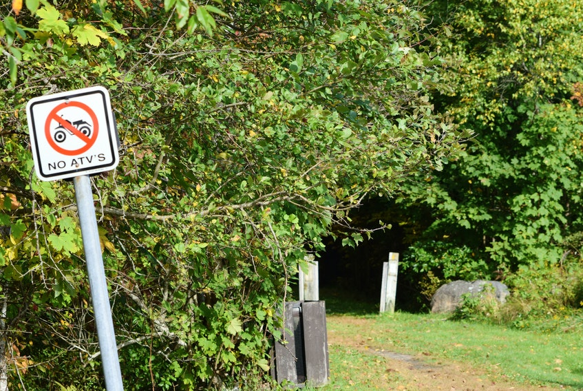 The no ATV signs will remain posted at the entrance points to the rail trail that passes through the Town of Shelburne.