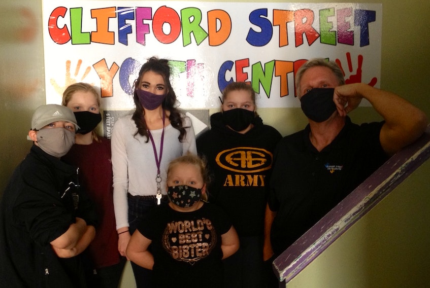 Children attending the Clifford Street Youth Centre have nothing but great things to say about the facility and the people who work there. Shown here are Landon Clark, Miranda Hawley, Kia Francis, youth worker Destiny Dermody, Kyla Francis and Paul Ratchford. CONTRIBUTED