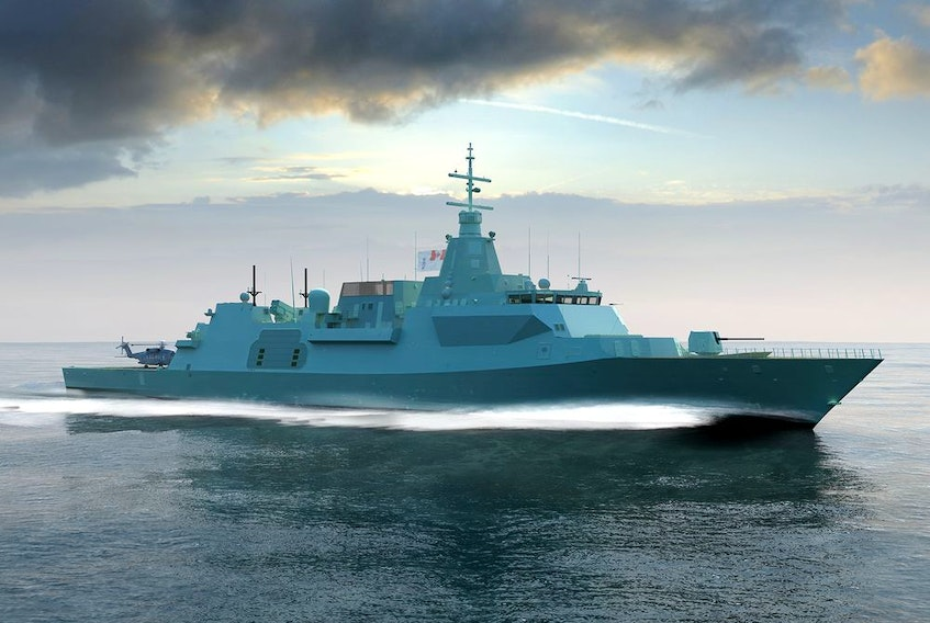 An artist's rendering of the Type 26 Global Combat Ship.