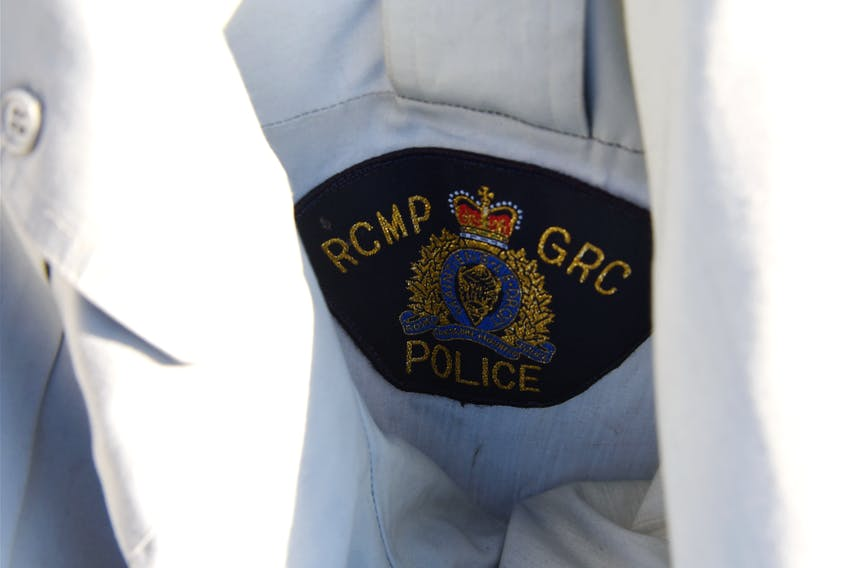 The RCMP logo on the police uniform the gunman wore during his shooting rampage in Nova Scotia on April 18 and 19, 2020.