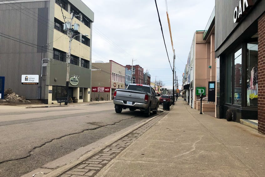 There wasn't much foot or vehicle traffic on Charlotte Street on Easter Monday as many continue to honour social distancing guidelines. Businesses on that street and throughout downtown Sydney continue to operate under modified operations amid COVID-19 precautions. GREG MCNEIL/CAPE BRETON POST