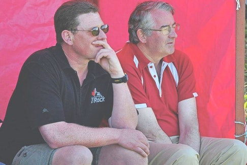 <p>After stepping away from the coaching role over the past few seasons, Pat Parfrey (right) will re-join Atlantic Rock coach Simon Blanks (left) on the team's sidelines this summer. Parfrey will also coach the U16 Rock side with Morgan Lovell and the U19 squad.</p>