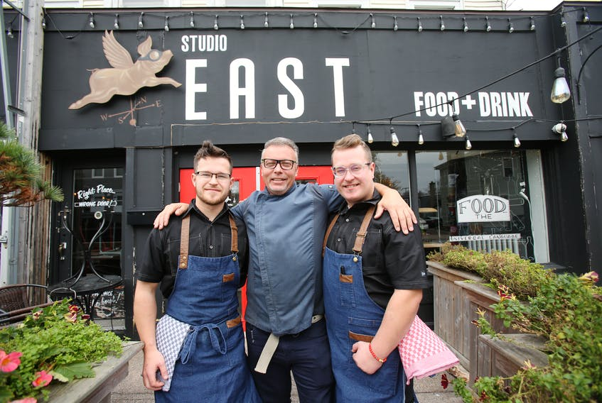 Studio East owner Ray Bear, centre, sold his Halifax restaurant to the Pratt brothers, Andre and Guy, in November 2019. It has reopened after a rent dispute. File