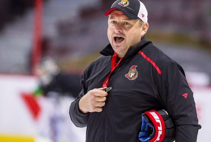 Ottawa Senators head coach D.J. Smith