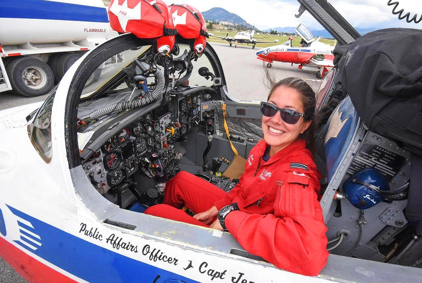 Capt. Jennifer Casey is seen in this photo from 2019 at the Penticton Regional Airport. Mark Brett - Penticton Western News