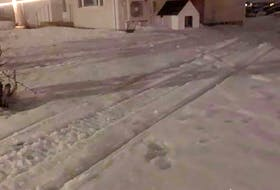 Matt Compton posted this photo on Facebook Feb. 26 showing snowmobile tracks coming too close to his house. He does not know who left them, but they are causing him some concern as his dog is often out in the yard, right where the tracks are shown. He wants riders to stick to the trails where people and pets won't be harmed. Submitted