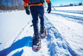 """[""""Snowshoeing is just one of the activities on tap for this year's Evangeline Winter Carnival.""""]"""