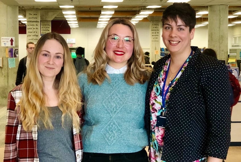 Organizers for next month's first ever Soapbox Science event in Newfoundland and Labrador are (from the left) Özgen Demirkaplan, Christina Prokopenko and Sarah Sauvé. — CONTRIBUTED