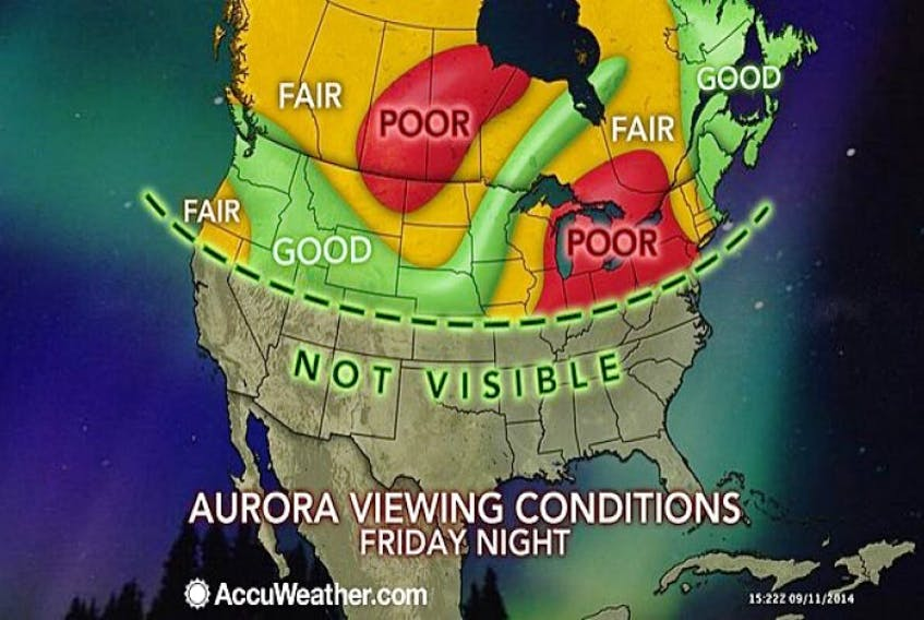 Solar flares could give southern latitudes a peek at the northern lights this weekend.