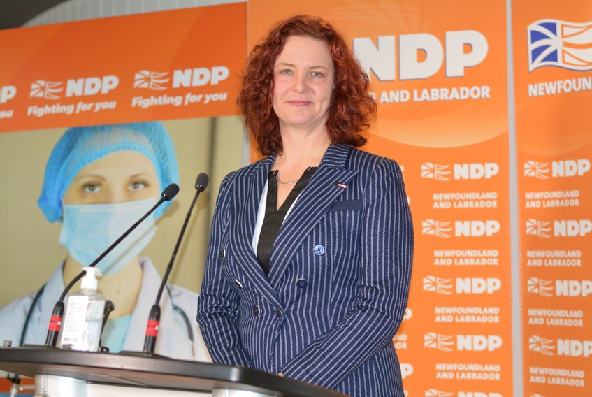 NDP Leader Alison Coffin TELEGRAM FILE PHOTO