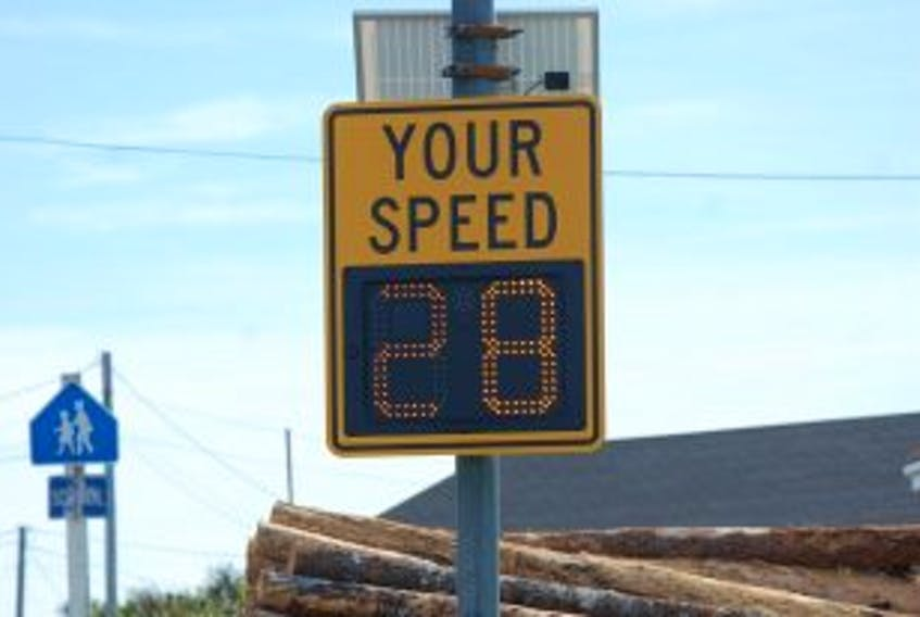 ['<p>The Town of Bonavista now has four speed signs on local roads; two at each of the school zones in the town.</p>']