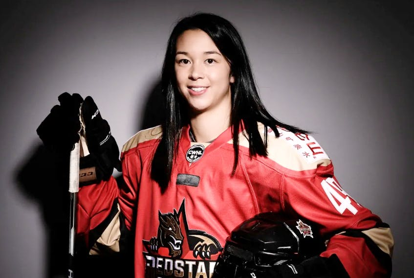 Jessica Wong of Baddeck is currently playing with KRS Vanke Rays of the Russian Women's Hockey League. The 29-year-old has had a hot start to the season with three goals and 19 points in 13 games. CONTRIBUTED • KRS VANKE RAYS
