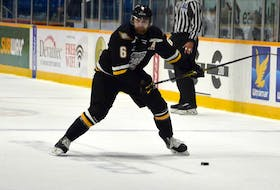 Jarrett Baker of the Cape Breton Eagles has been out of the lineup in recent weeks with an upper-body injury. The Quebec Major Junior Hockey League's second pause in its season due to COVID-19 restrictions will give the Black Rock, Victoria County, native an opportunity to get healthy and finish the remainder of his final major junior season. JEREMY FRASER • CAPE BRETON POST