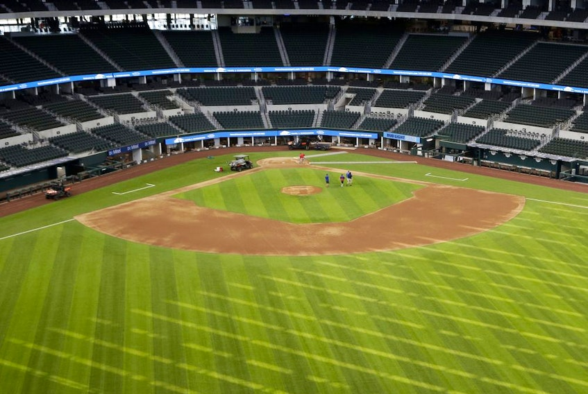 The Texas Rangers aren't able to play at their new home, Globe Life Field, and Major League Baseball may not be playing anywhere this year.