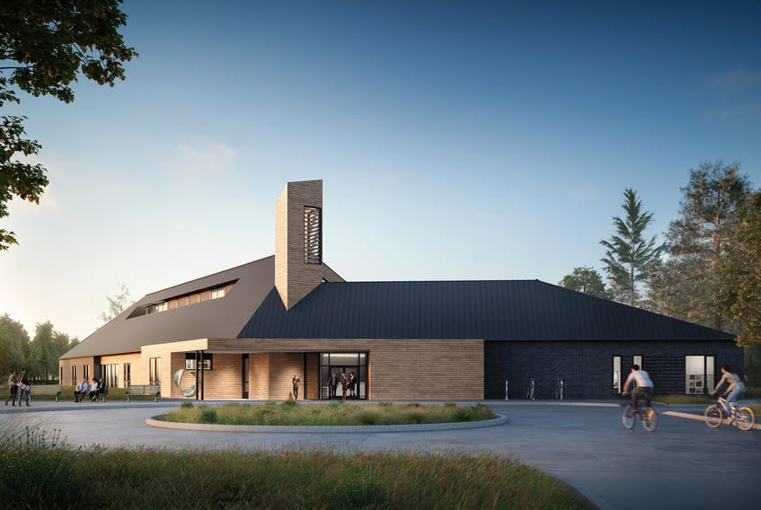An artist's rendition of MODL's new municipal service building in Osprey Village.