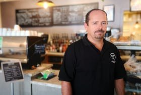 Scott Hillyer, owner of Coffee Matters, says the past couple days have been emotional, as he's had to make the hard decision of laying off much of his staff. The decision comes after a couple bad years economically, lost sales due to snowstorms and the state of emergency and now uncertainty caused by Covid-19. Andrew Waterman/The Telegram