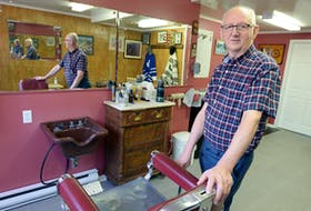 Barber Rick Harris, owner of Harris's Barber Shop on Casey Street in St. John's, is retiring after 54 years in the business. His father, Richard Harris Sr., opened the first shop on New Gower Street in 1905.  Keith Gosse/The Telegram