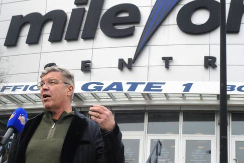 Dean MacDonald, owner of Deacon Investments Ltd. and the ECHL's Newfoundland Growlers, is disappointed with the time St. John's city council is taking to decide whether or not to sell Mile One Centre. — TELEGRAM FILE PHOTO
