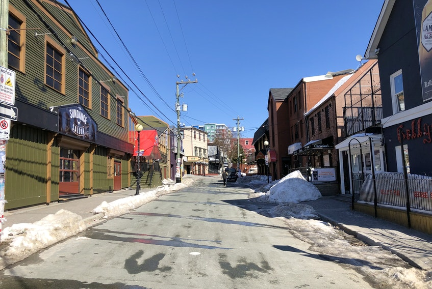 The $50,000 George Street revitalization project study was one of 11 St. John's capital projects deferred indefinitely by city council on Wednesday in an effort to free up cash during the COVID-19 pandemic. -TELEGRAM FILE PHOTO