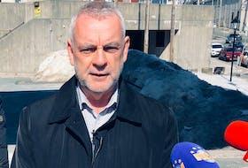 St. John's Mayor Danny Breen speaks to reporters Thursday. JOE GIBBONS/THE TELEGRAM