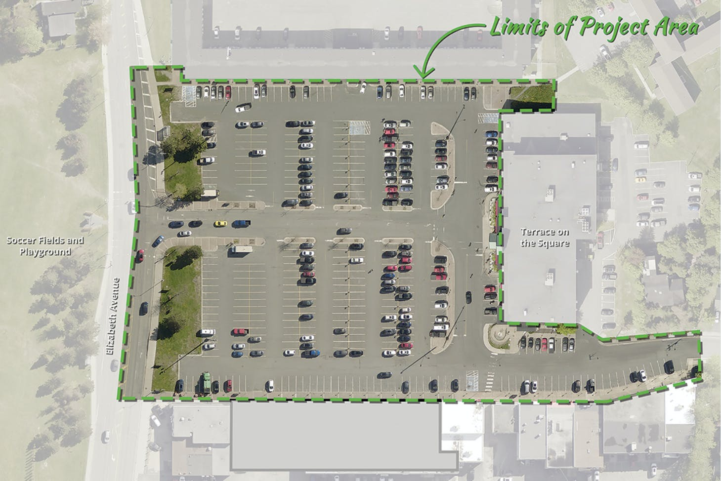 Churchill Square project limits are shown in this image taken from the City of St. John's engagestjohns.ca website.