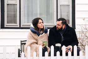 """Marthe Bernard and Andrew O'Brien in a scene from the movie """"Little Orphans,"""" which was written by Emily Bridger and directed by Ruth Lawrence. The film's debut was Friday, as part of FIN International Film Festival. – CONTRIBUTED"""