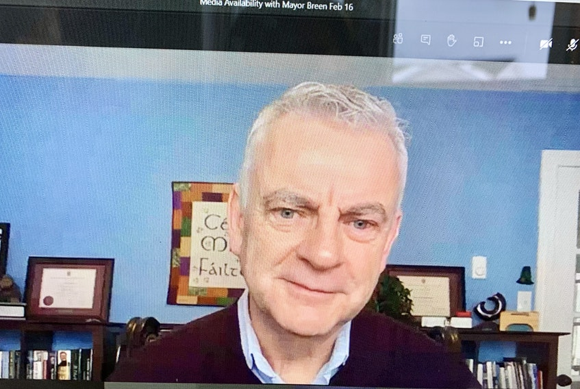 St. John's Mayor Danny Breen spoke to reporters in a virtual news conference Tuesday. — ROSIE MULLALEY/THE TELEGRAM