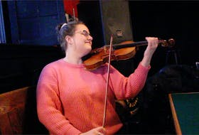 """Classically trained violinist and violist, Maria Cherwick, has released a new book of sheet music for her original tunes called, """"Home From Away."""" Cherwick has a background in many different styles of music, including classical, traditional Newfoundland, bluegrass, Appalachian music, as well as Ukrainian and Greek folk music. — Andrew Waterman/The Telegram"""