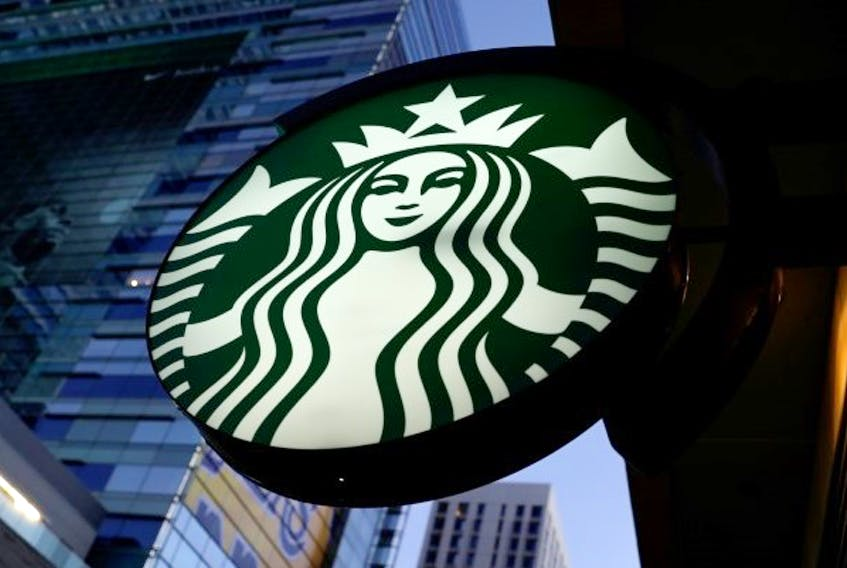 A Starbucks sign is shown on one of the companies stores. File Photo