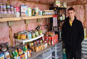 Dustin Madden started a pantry in Stellarton to help people in need in his community. As someone who grew up in poverty, he said he has a heart that wants to help others.