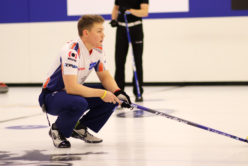 Ryan McNeil Lamswood is seen here playing lead for Team Gushue during a competition this past fall. CONTRIBUTED