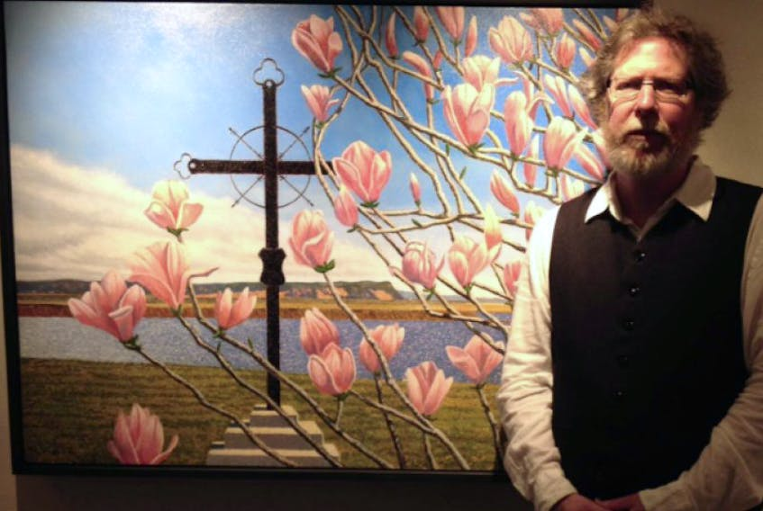 Steven Rhude's painting from Horton Landing is on display at Harvest Gallery in Wolfville, along with work by Alan Bateman, Arnaud Beghin, Peter Gough and Anna Syperek. The realist exhibit, If Truth Be Told, runs until July 11.