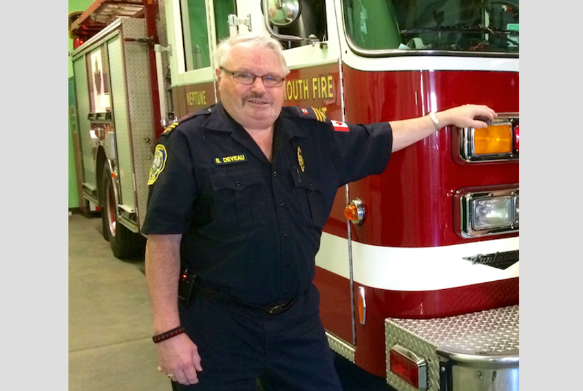 Stewart Deveau of Yarmouth is passionate about firefighting. TRI-COUNTY VANGUARD