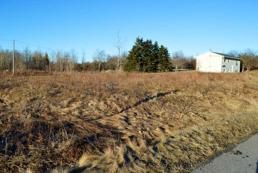 A portion of this lot at the corner of Mackie's Lane in Gardiner Mines is part of the Cape Breton Regional Municipality's property tax tender sale. There are currently 69 properties up for tender, all at a starting bid of $600. Sharon Montgomery-Dupe/Cape Breton Post