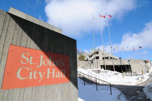 The City of St. John's municipal City Hall on New Gower Street in downtown St. John's as seen on Thursday morning. -Joe Gibbons/The Telegram