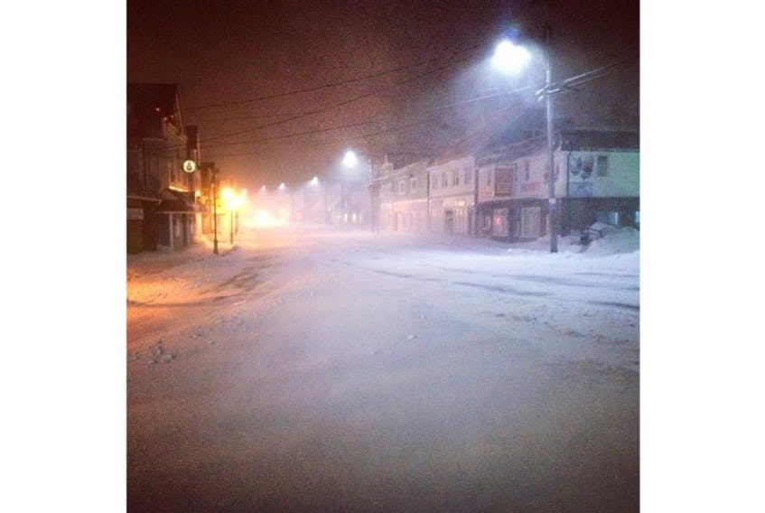 Digby's front street at 6 a.m. March 18.