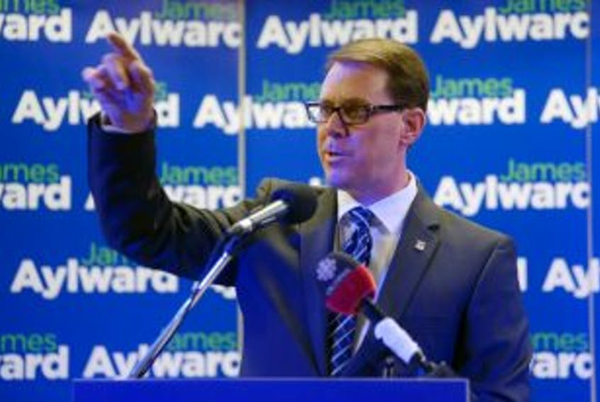 ['Stratford MLA James Aylward announced Monday he is running for the leadership of the PC party of P.E.I. The convention will be held Feb. 28, 2015. Guardian photo by Mitch MacDonald.']