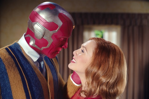 Elizabeth Olsen and Paul Bettany star in WandaVision, now streaming on Disney +, which is both a branch of the larger Marvel Cinematic Universe and a love-letter to retro sitcoms. DISNEY