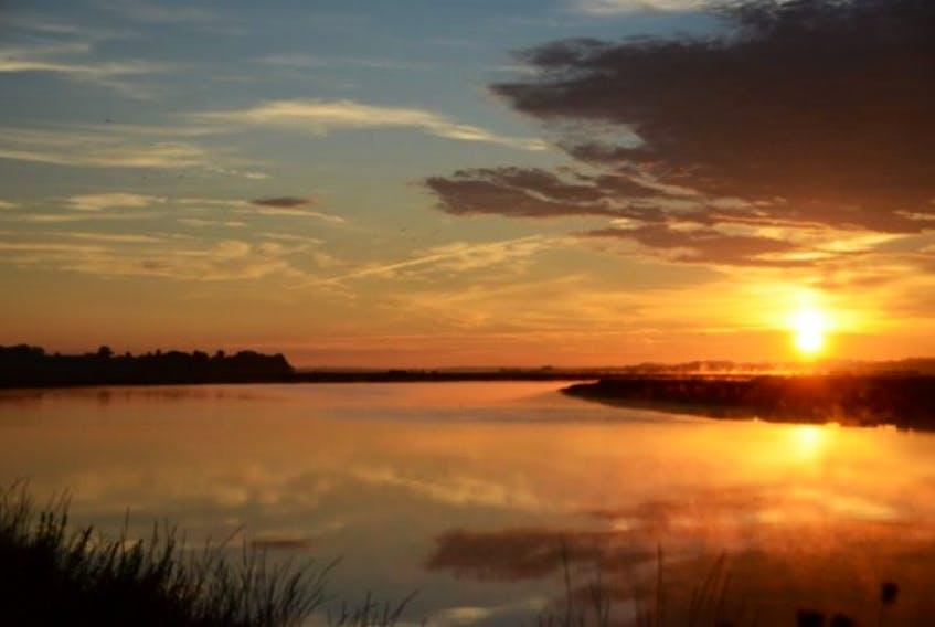 Sunrise over the Cornwallis River at Port Wiliams Sept. 16