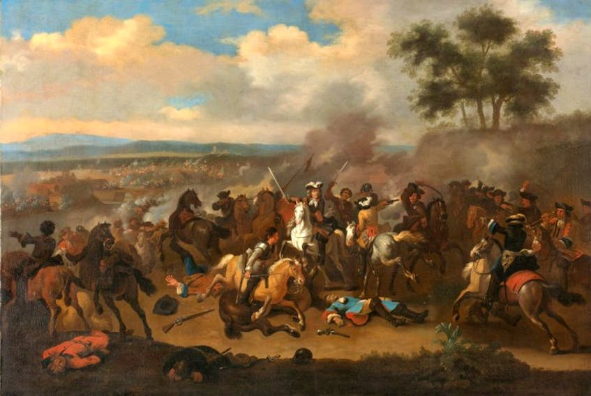 Battle of the Boyne between James II and William III, 12 July 1690, by Jan van Huchtenburg