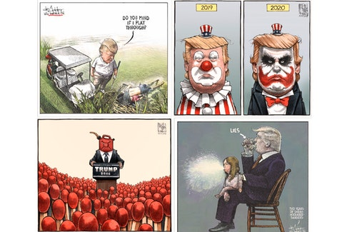SaltWire cartoonists Michael De Adder and Bruce MacKinnon have spent the past four years satirizing a goldmine of material — U.S. President Donald Trump.
