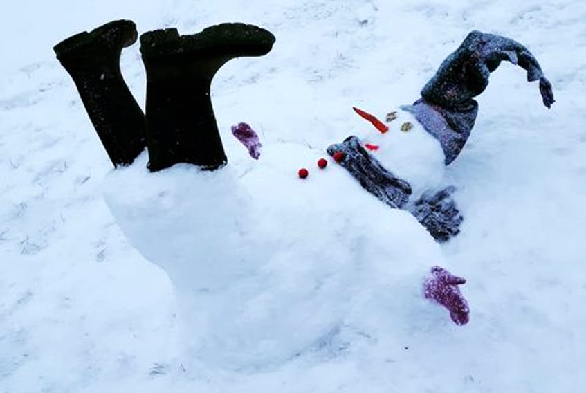 From record heat to heavy snow, our weather has been pretty topsy-turvy since Christmas. Penny Beebe says this snowman doesn't know what to make of it either! Well, Grandma had a theory …
